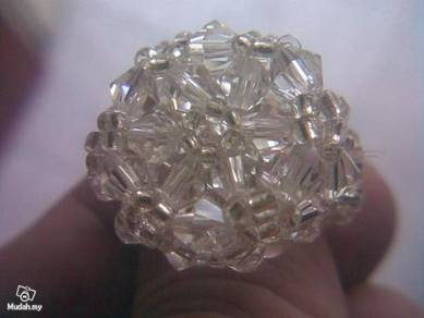 ABRSB-S002 Swarovski Crystal Faceted Beads Ring s6