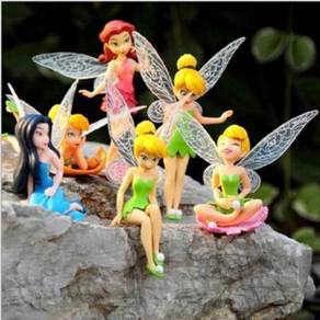Mini Figure TinkerBell Fairy Cake Decoration -6pcs
