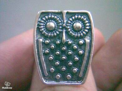 ABRSM-O003 Owl Style Silver Metal Ring