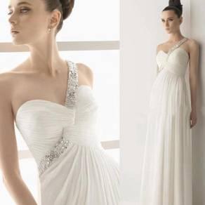 White wedding bridal prom bridesmaid dress RBP0267