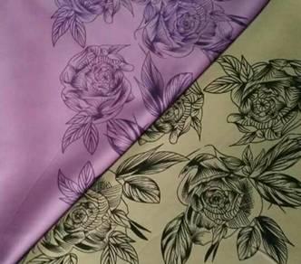 Tudung bawal shawl dan settin