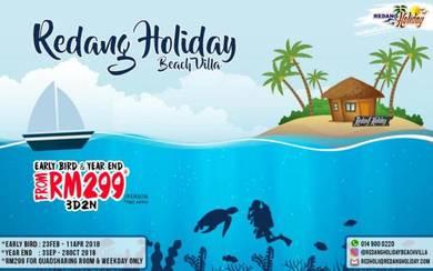 Percutian pulau redang fullboard 3d2m 2018 RM 299