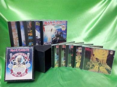 Iron Maiden THE FIRST TEN YEARS 10 cd 1990 BOXSET