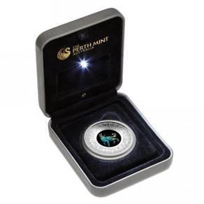 Opal Lunar Series 2018 Dog 1oz Silver Proof Coin