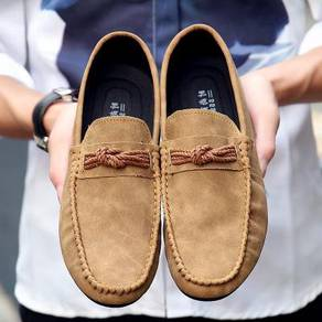 S0233 Elegant Brown Loafers Slip On Casual Shoes