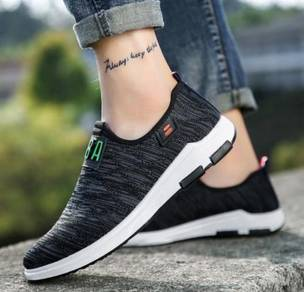 S0263 Black Slip On Breathable Kasut Casual Shoes