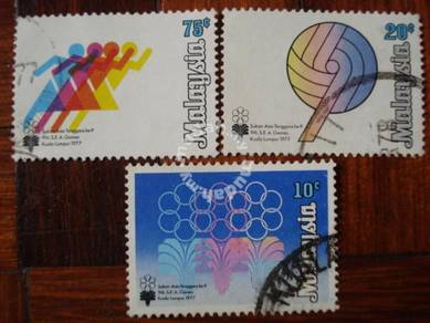 Use-d Stamp 9th Sea Games Malaysia 1977