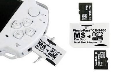 Sony PSP Dual MicroSD Memory Stick Adapter CR-5400