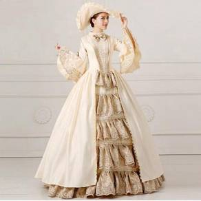 Victorian Wedding Dress Long Sleeve RBMWD0039