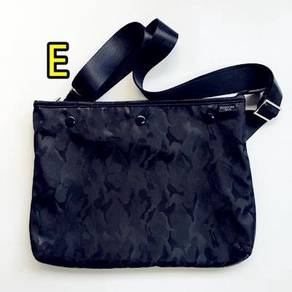 BLACK CAMO PORTER SLING BAGS ZIP and 3 BUTTON