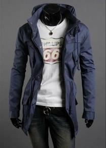 44942 Korean Style Blue Multi-Pocket Coat Jacket