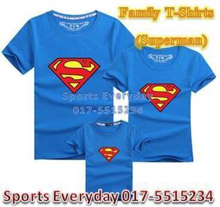 Family Shirt Couple Attire Baju Keluarga Superman1