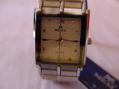 Mema Quartz White Rectangular Dial Watch