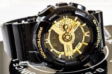 Watch- Casio G SHOCK GA110GB BLACK GOLD -ORIGINAL