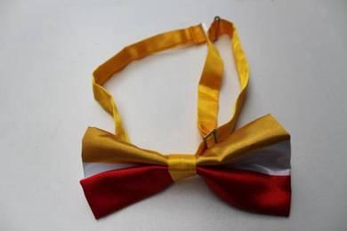 Red White Yellow Adjustable Men Bowtie Bow Tie
