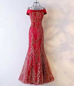 Red wedding bridal prom bridesmaid dress RBP0266