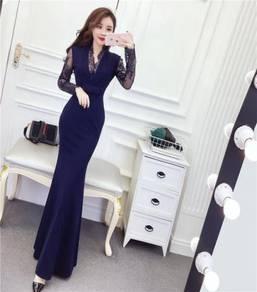 Black blue red OL long sleeve prom dress RBP0909