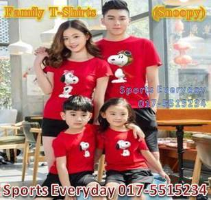 Family Shirts Couple T Baju Keluarga Snoopy