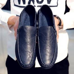 S0224 Dark Blue Loafers Casual Men Slip On Shoes