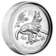Lunar SII 2018 Dog 1oz Silver Proof High Relief