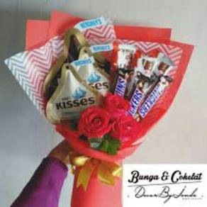Bouqeut bunga coklat