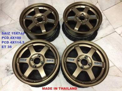 Rim TE37 15 16 17 18 RE30 CE28 RPF1 Ori Thai 100%