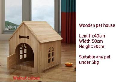 Solid Wood Pet house, Cat Kennel, Sangkar Kucing