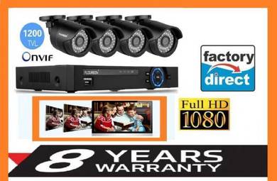 FULLHD security Cctv 4ch heavyduty + 8 yrs waranty