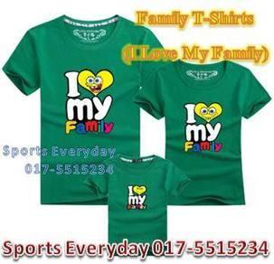 Family Shirt Couple T Baju Keluarga I Love Family2