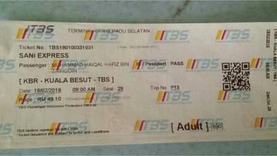 Ticket bus k.besut-tbs (18/2/2018)