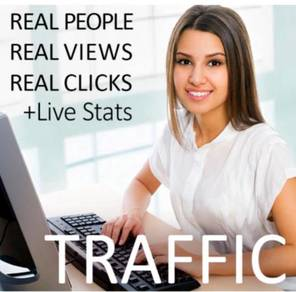 100,000 views real web traffic for your website
