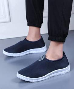 S0266 Blue Breathable Sports Slip Ons Water Shoes