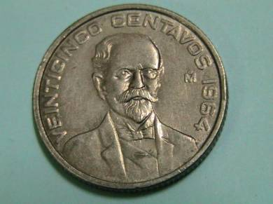 Mexico, United States 25 Centavos 1964