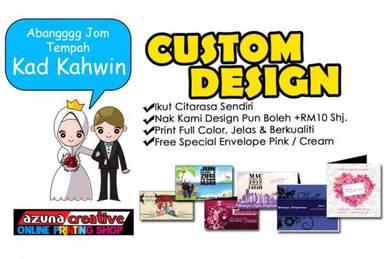 Kad kahwin custom bajet