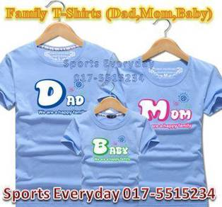 Family Shirt Couple T Baju Keluarga Dad Mom Baby