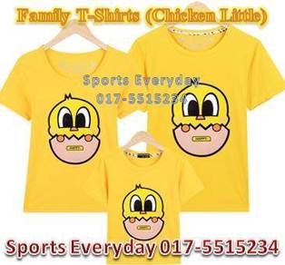 Family Shirt Couple T Baju Keluarga Chicken Little