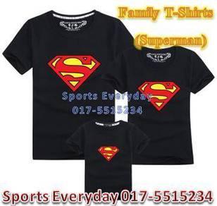 Family Shirt Couple T Baju Keluarga Superman2