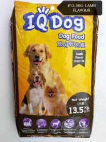 IQ Dog Lamb Flavor Dog Food Makanan Anjing 13.5kg