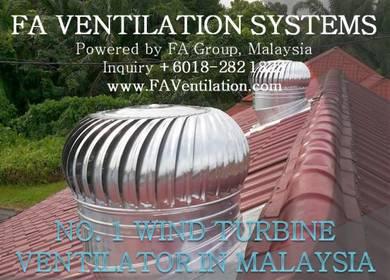 KYLEC* US No.1 Wind Turbine Ventilator ALOR SETAR