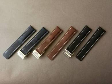 BREITLING 22mm Genuine Calf Leather Watch Strap