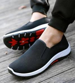 S0267 Black Breathable Hiking Travel Slip On Shoes