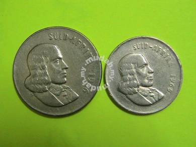 South Africa 1965 20 cents & 1966 50 Cents coin