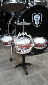 Drum Set 3 Pcs (Colour: Maroon)- Small