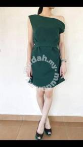 Toga dress - hunter green