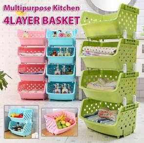Multipurpose kitchen 4 layer basket