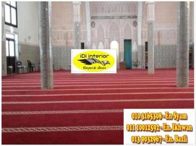 Bekalpasang carpet masjid / karpet idi-008a