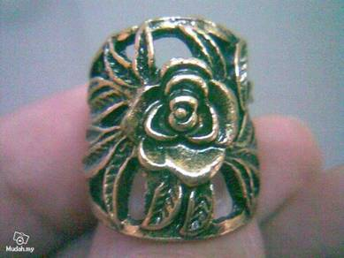 ABRB-R001 Elegant Bronze Rose Retro Ring - Sz 5.5