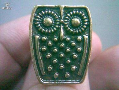 ABRGM-O001 Owl Style Gold Metal Ring