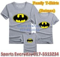 Family Shirts Couple Attire Baju Keluarga Batman 1