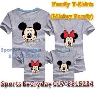 Family Shirts Couple T Baju Mickey & Minnie Mouse